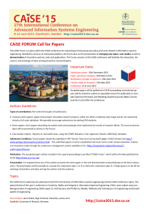 CAiSE_Forum_2015